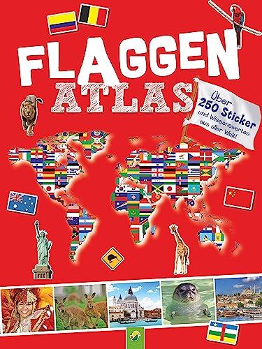 9783862336548: Flaggenatlas mit Stickern