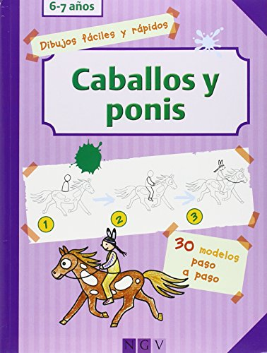 9783862338856: CABALLOS Y PONIS.DIBUJOS FACILES Y RAPI