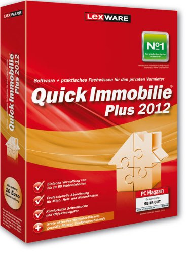 9783862910649: Lexware QuickImmobilie Plus 2012 - Software contable (1000 MB, 256 MB, Pentium II 400 MHz, DEU)