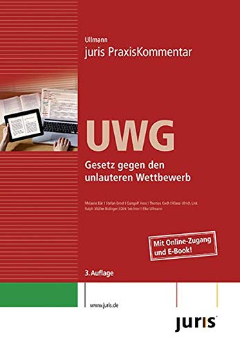 9783863300234: juris PraxisKommentar / juris Praxiskommentar UWG