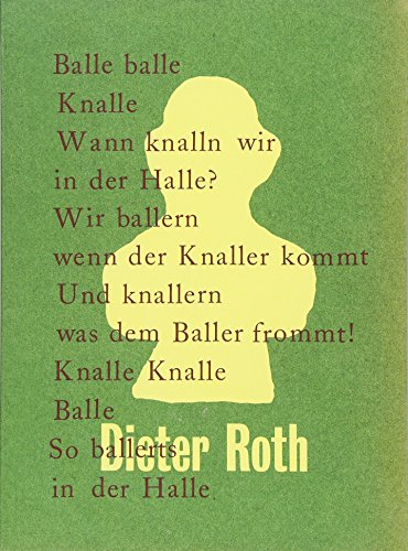 9783863356521: Dieter Roth: Balle Balle Knalle