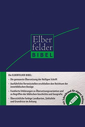 Elberfelder Bibel 2006 Schreibrandbibel Kunstleder mit Registerstanzung