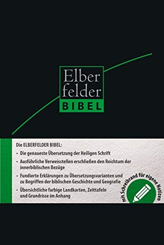 Elberfelder Bibel 2006 Schreibrandbibel Leder mit Registerstanzung