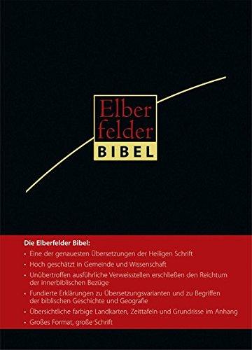 Elberfelder Bibel 2006 Großausgabe Leder Goldschnitt mit Griffregister