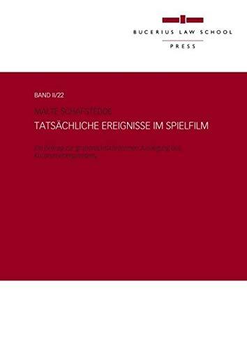 9783863810122: Tatsachliche Ereignisse Im Spielfilm (English and German Edition)