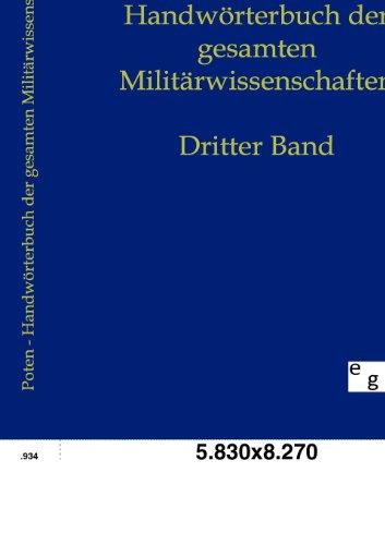 9783863825195: Handwörterbuch der Gesamten Militärwissenschaften (German Edition)