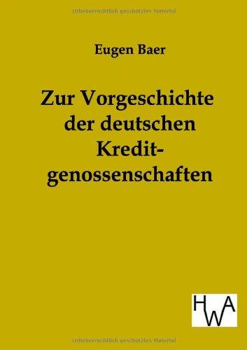 9783863830472: Zur Vorgeschichte der deutschen Kreditgenossenschaften (German Edition)