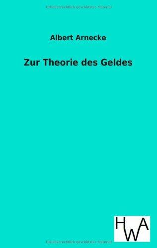 9783863831479: Zur Theorie Des Geldes
