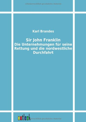 9783864032134: Sir John Franklin (German Edition)