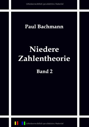 9783864035586: Niedere Zahlentheorie (German Edition)