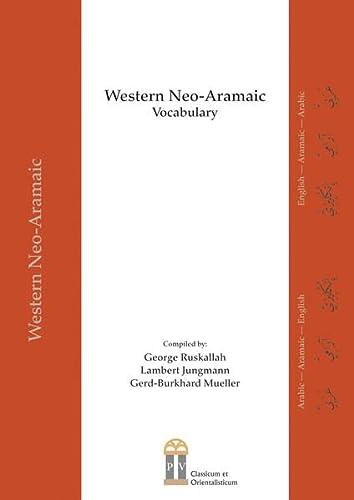 9783864170195: Western Neo-Aramaic Vocabulary