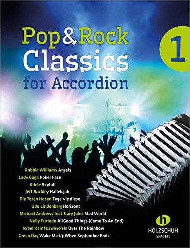 9783864340352: Pop & Rock Classics for Accordion. Bd.1
