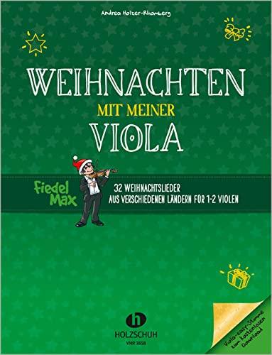 9783864340444: Fiedel-Max - Weihnachten mit meiner Viola, für 1-2 Violen