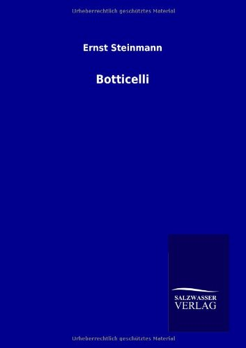 9783864448720: Botticelli (German Edition)