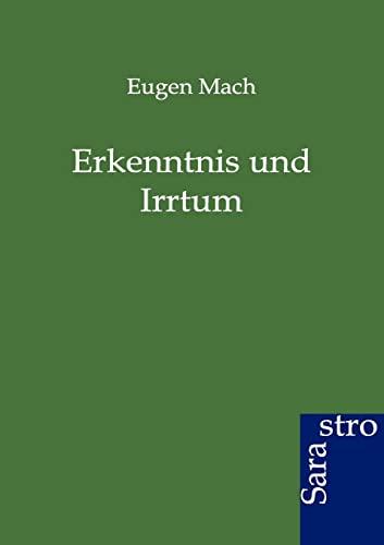 9783864710285: Erkenntnis und Irrtum (German Edition)