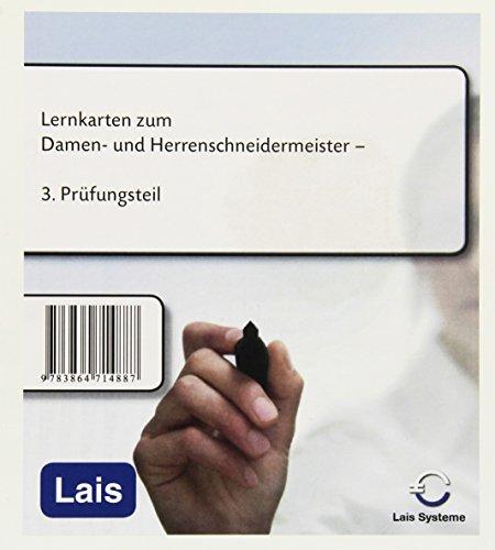 Lernkarten zum Damen- und Herrenschneidermeister