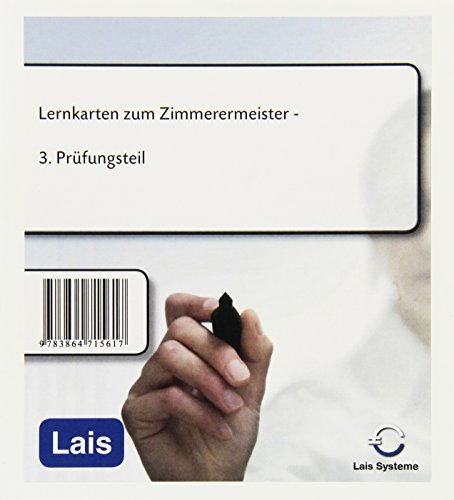 9783864715617: Lernkarten zum Zimmerermeister: 3. Pr�fungsteil