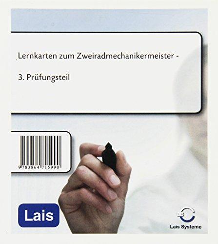 9783864715990: Lernkarten zum Zweiradmechanikermeister: Dritter Prüfungsteil