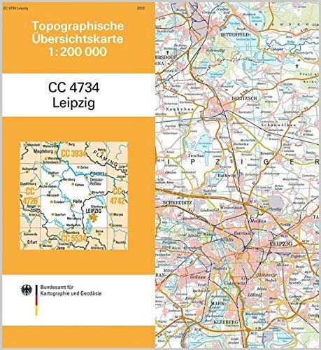 9783864820212: Topographische Übersichtskarte CC4734 Leipzig 1 : 200 000