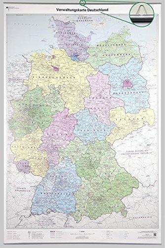 9783864820793: Poster Verwaltungskarte Deutschland 1 : 750 000 mit Bestäbung: Wandkarte mit Aufhänger und Bestäbung