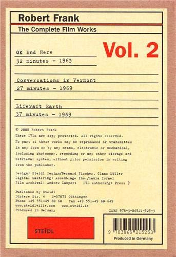 9783865215253: Robert Frank: The Complete Film Works: Volume 2: Conversations in Vermont, Liferaft Earth, OK End Here