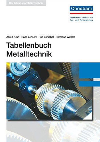 Tabellenbuch Metalltechnik: Kruft, Alfred, Lennert,