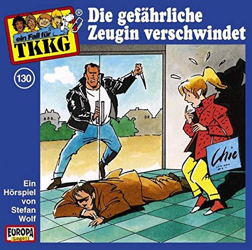 9783865362162: TKKG - CD: Wolf, Stefan, Bd.130 : Die gef�hrliche Zeugin verschwindet, 1 Audio-CD: FOLGE 130