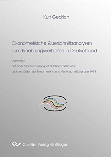 9783865376619: Ökonomische Querschnittsanalysen zum Ernährungsverhalten in Deutschland