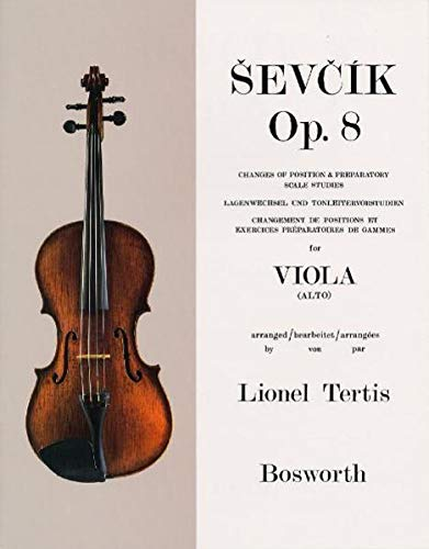 9783865435217: Sevcik Viola Studies: Changes of Position and Preparatory Scale Studies