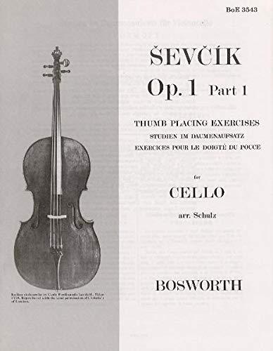 9783865435248: Sevcik Cello Sudies. Op. 1 Part 1. Studien im Daumenaufsatz für Cello