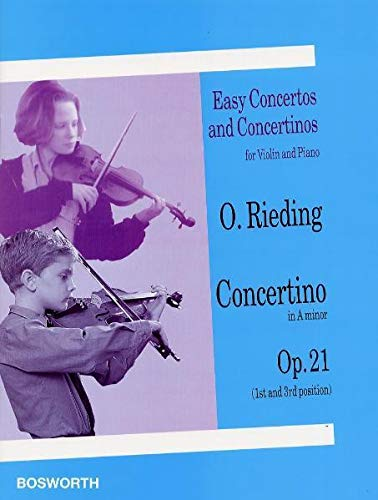 9783865435712: Oskar Rieding: Concertino in a Minor for Violin and Piano Op.21