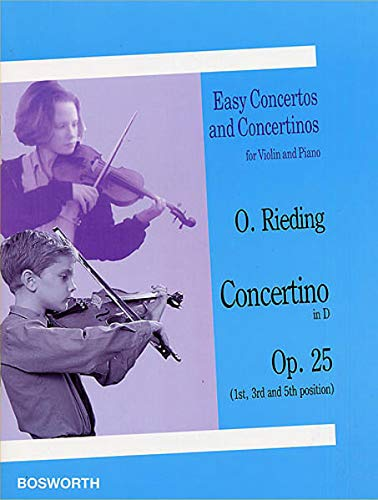 9783865435729: Rieding: Concertino in D-Dur. Op. 25. Easy Concertos and Concertinos