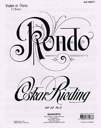 9783865435811: Rondo Op. 22 No. 3. Für Violine und Klavier