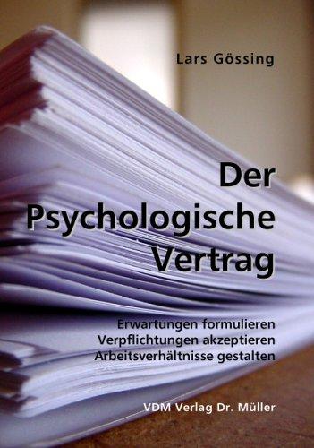 9783865501684 Der Psychologische Vertrag Erwartungen Formulieren