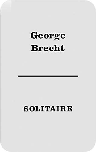 9783865600189: George Brecht: Solitaire
