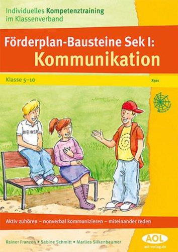 9783865675019: Förderplan-Bausteine Sek. I: Kommunikation