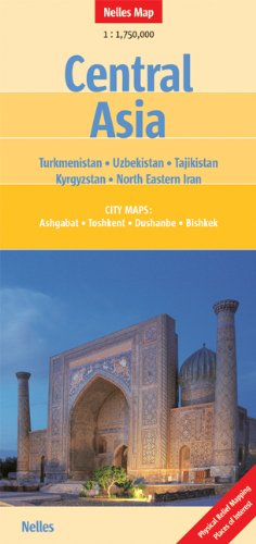 9783865742117: Central Asia Nelles map (English, French, Italian and German Edition)