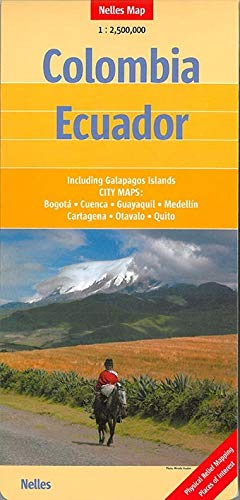 9783865742896: Colombia/ Ecuador Nelles Travel Map 1:2.5M - 2014 (English, French and German Edition)