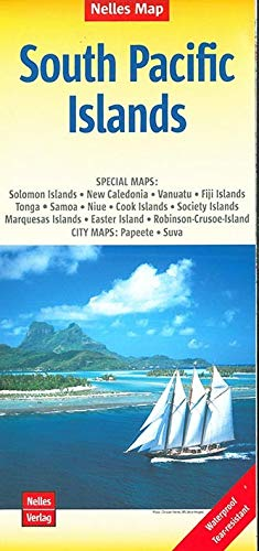 South Pacific Islands Nelles Map 1:13M (Waterproof) (English, French and German Edition): Nelles