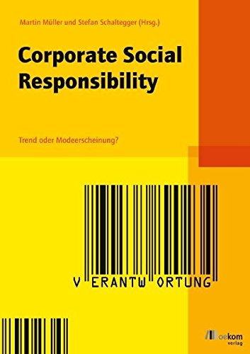 9783865810533: Corporate Social Responsibility