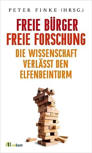 9783865817105: Freie Bürger, freie Forschung