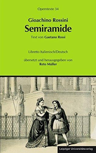 9783865837011: Gioachino Rossini: Semiramide (Semiramis)