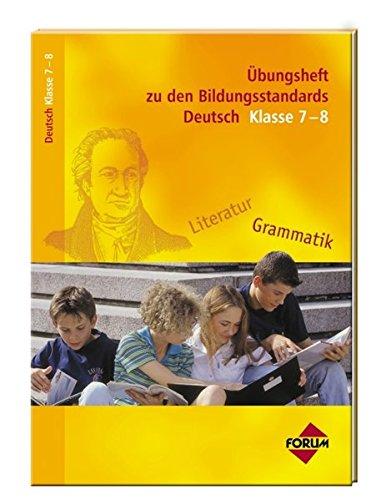 9783865860750: Bildungsstandards Deutsch Klasse 7-8. +â-£bungshef