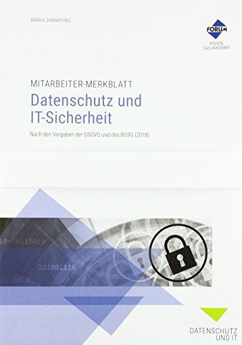 Mitarbeiter-Merkblatt Datenschutz und IT-Sicherheit VPE (Paperback): Maria Dimartino
