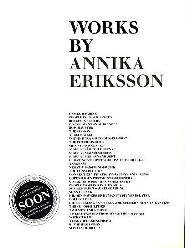 Annika Eriksson: Works: Aguirre, Peio