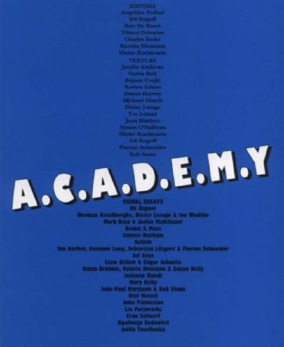 9783865883032: A.C.A.D.E.M.Y.: Academy. Learning from Art