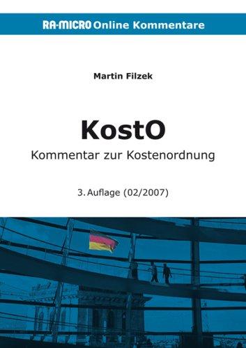 9783865905420: KostO. Online-Kommentar zur Kostenordnung