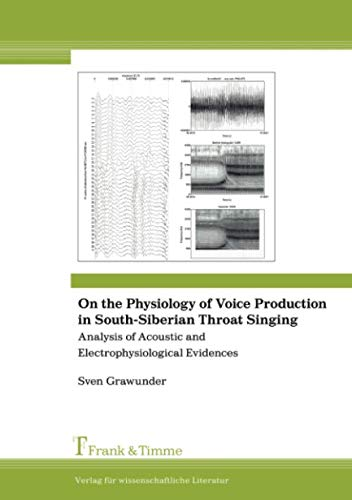 9783865961723: On the Physiology of Voice Production in South-Siberian Throat Singing