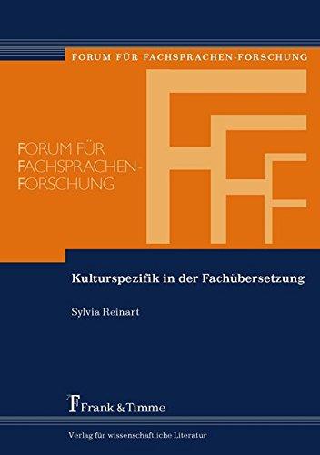 Kulturspezifik in der Fachübersetzung: Sylvia Reinart