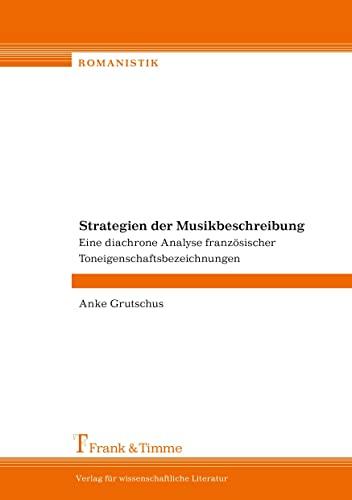Strategien der Musikbeschreibung: Anke Grutschus